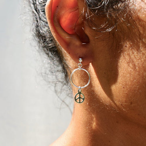 Paix Silver Earrings