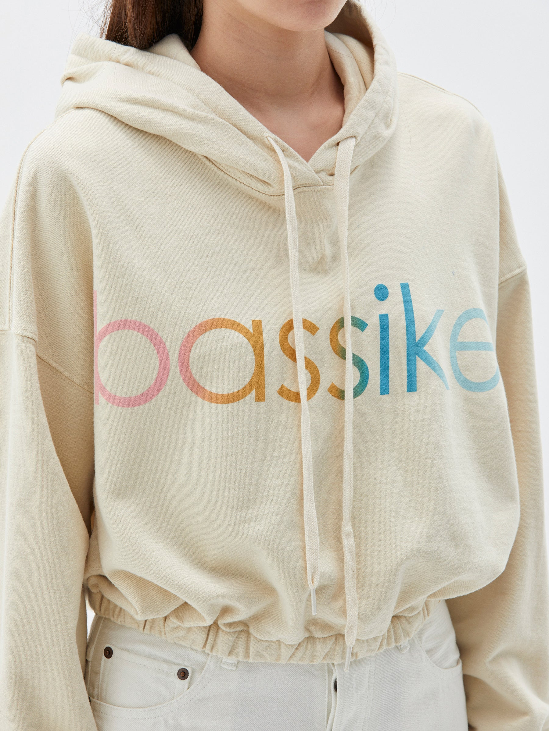 Bassike Gathered Hooded Sweat