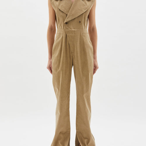 Trench Style Jumpsuit