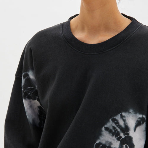 Karamatsu Print Double Jersey Cropped Sweat
