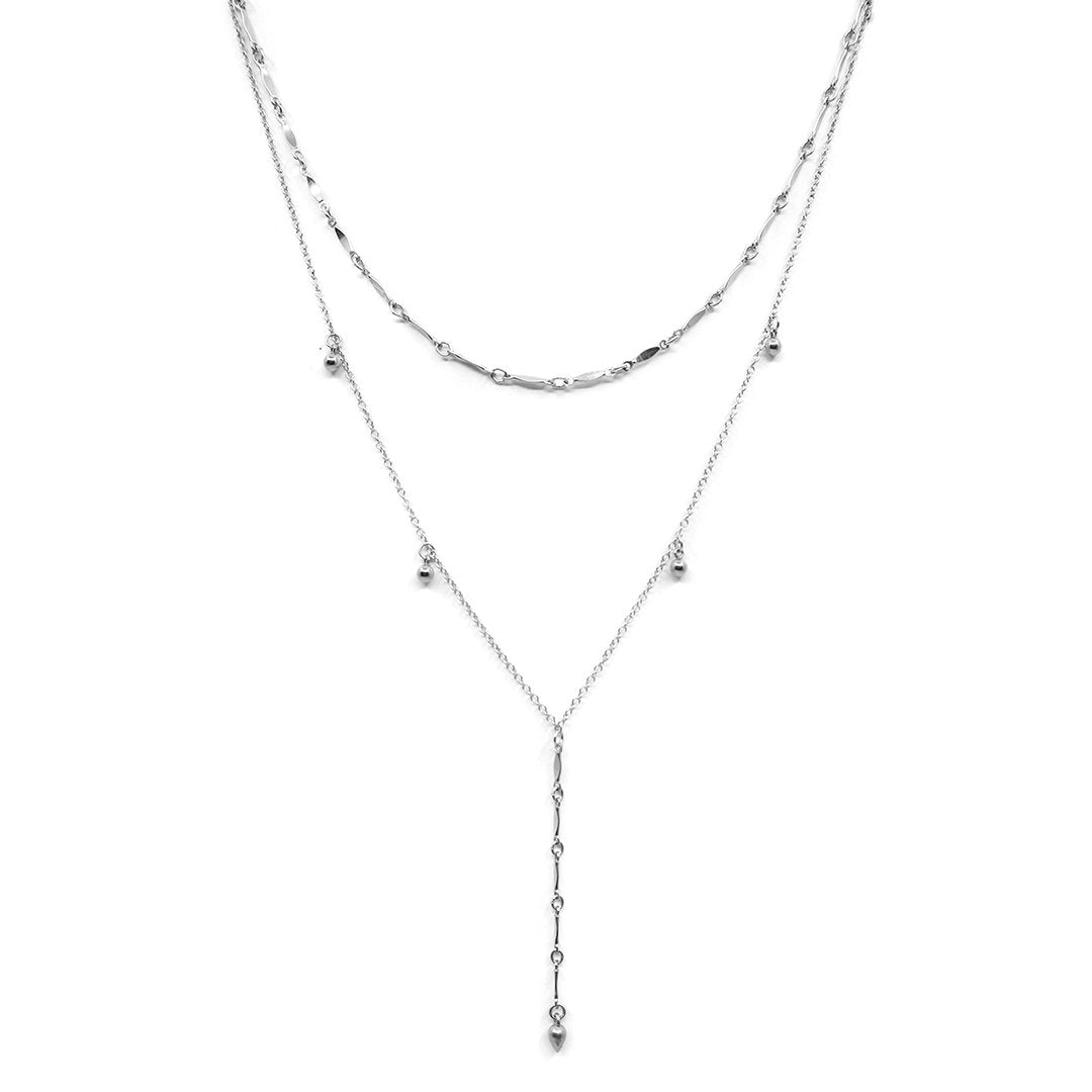 Silver Curtain Necklace