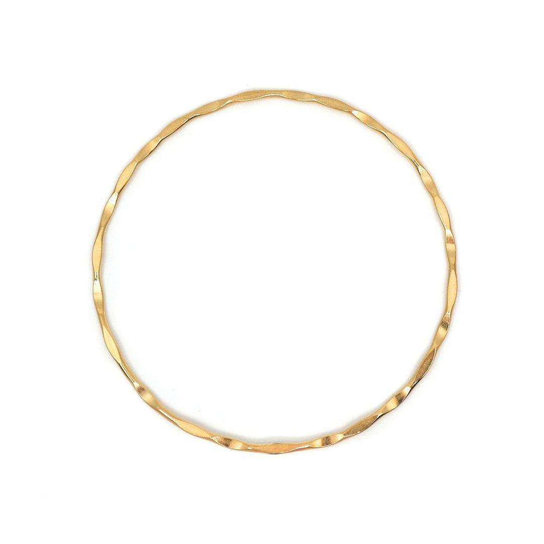 Gold Textured Bangle