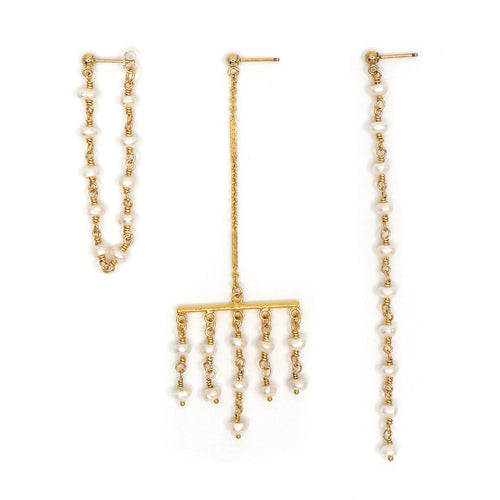 Gold Pearl Terrace Earrings