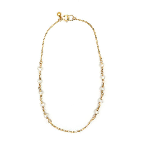 Gold Pearl Lydia Anklet