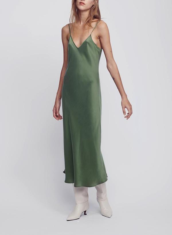 90's Silk Slip Dress