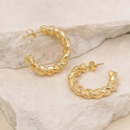 Gold Divine Fate Large Hoops
