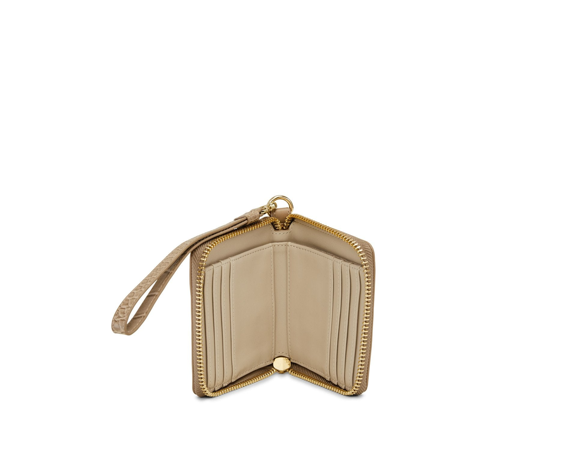 Petite Classic Insider Wallet Almond