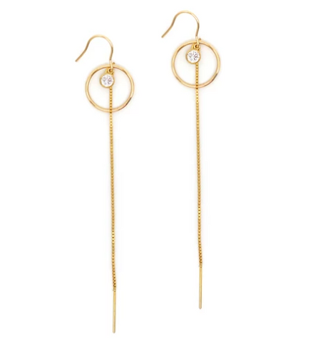 Gold Atlantis Drop Earring