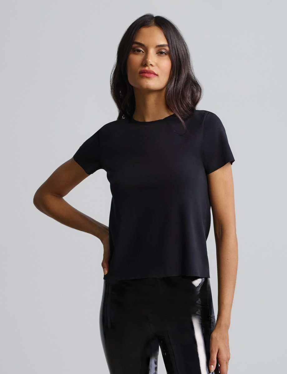 Essential Cotton Crew Neck Tee - BLACK