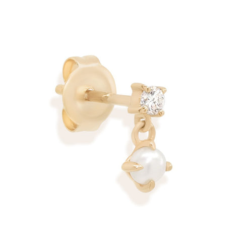 14K Gold Single Tranquility Earring