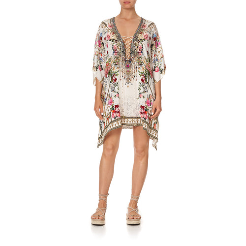 Star Crossed Lovers Short Lace Up Kaftan