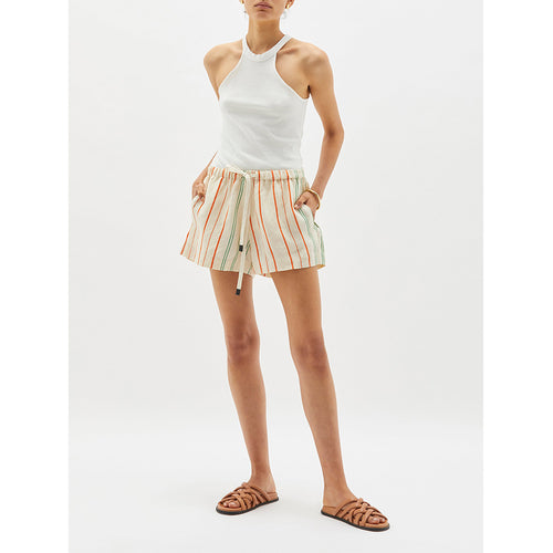 Stripe Linen Beach Short