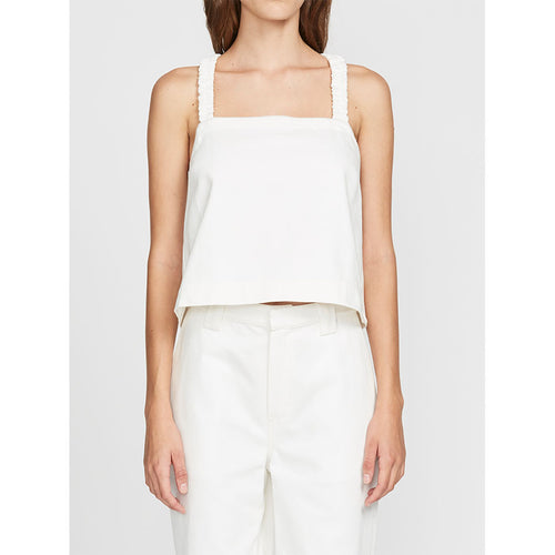 Boxy Cotton Apron Tank