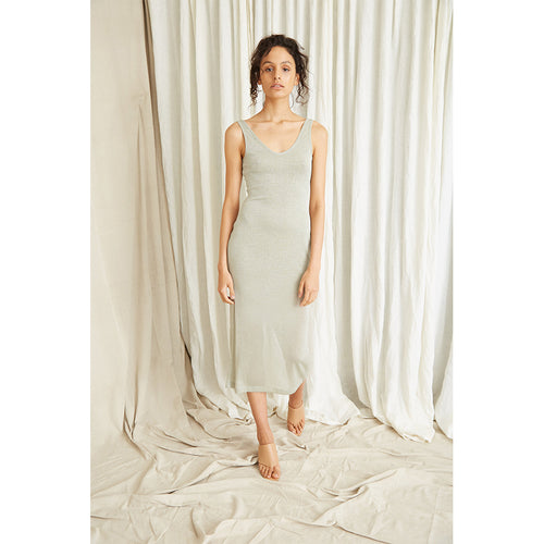 Star Dust Scooped Tank Dress