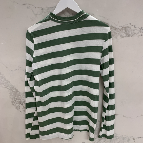 Stripe Heritage Cut Out Long Sleeve Shirt