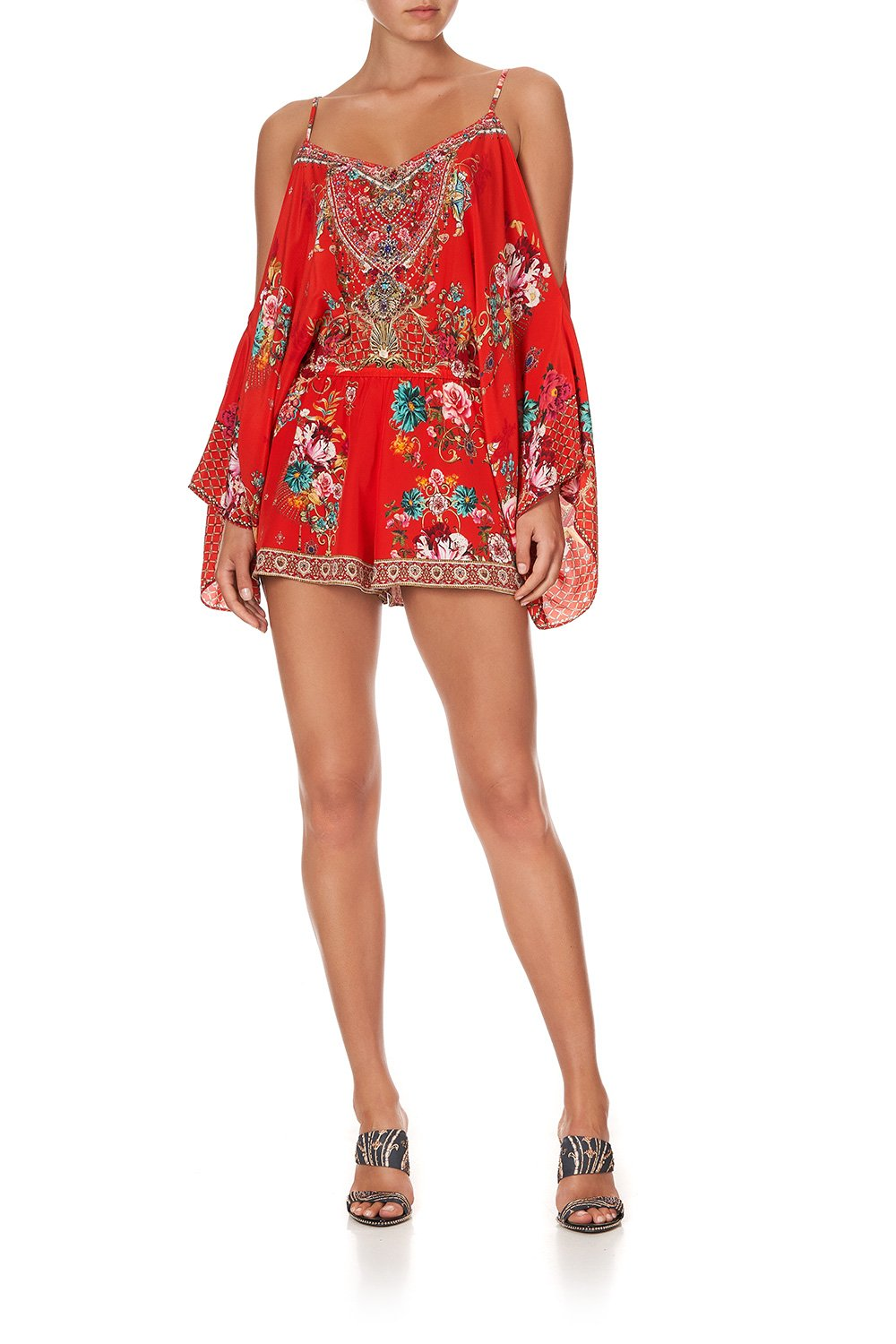 Cameos Can Can Drop Shoulder Playsuit