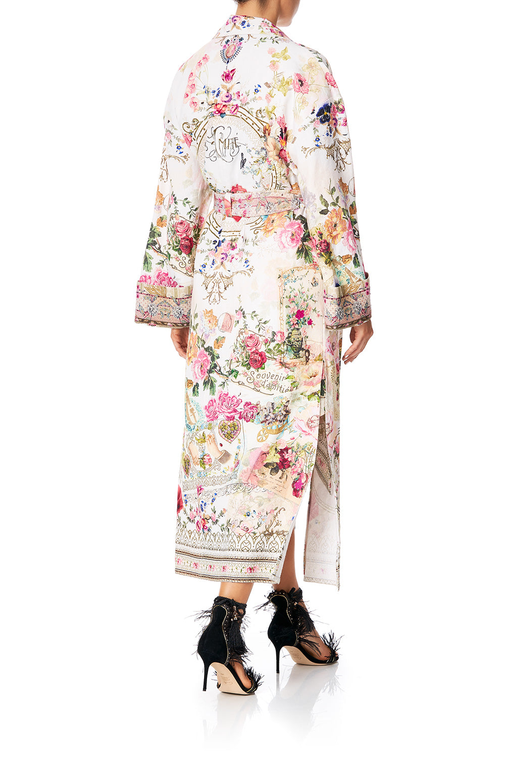 Jardin Postcards Duster Coat
