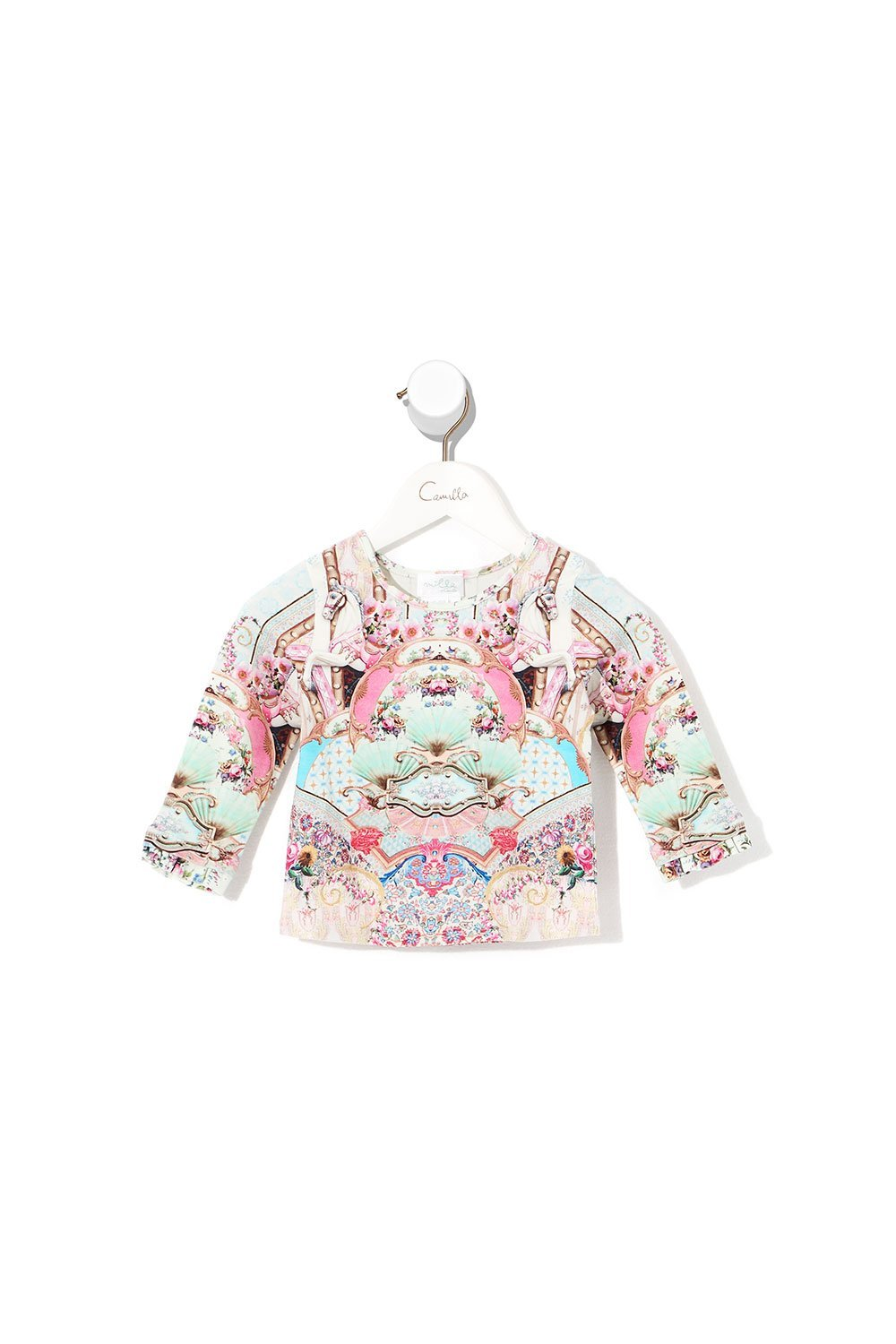 Carousel Mademoiselle Babies Long Sleeve Top with Frill