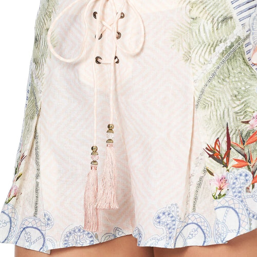 Beach Shack Lace Up Front Shorts