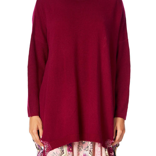 La Belle Long Sleeve Jumper with Print Back