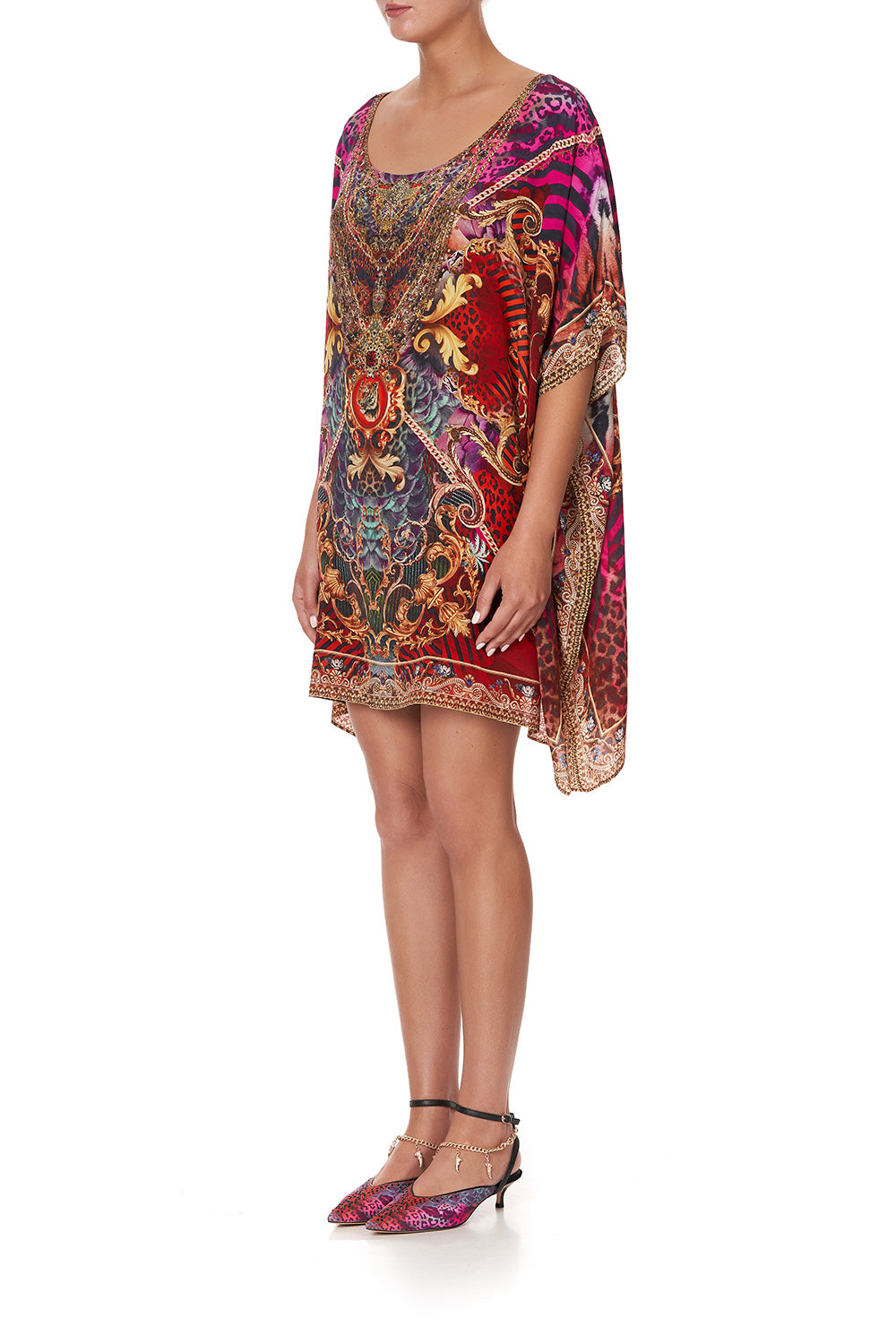 Slave To The Rhythm Short Round Neck Kaftan