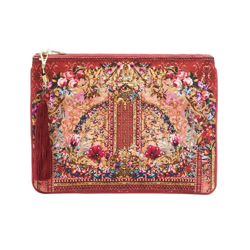 La Belle Small Canvas Clutch
