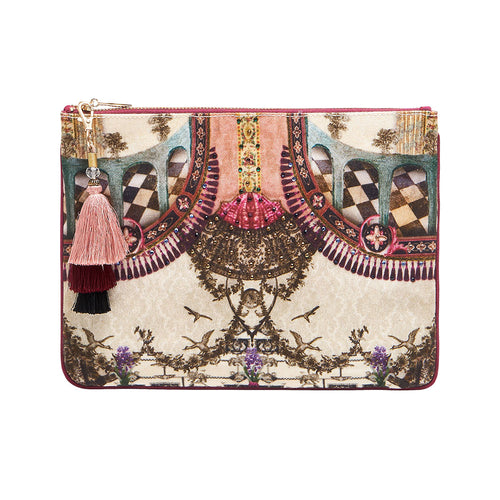 Violet City Small Canvas Clutch