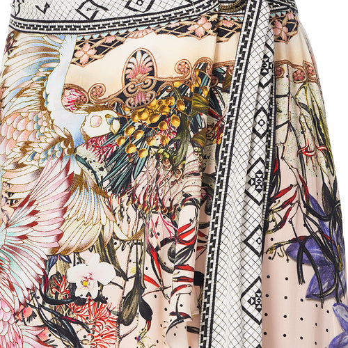 Kindred Skies Wrap High Low Skirt