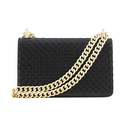 The Chain Black Weave Side Bag