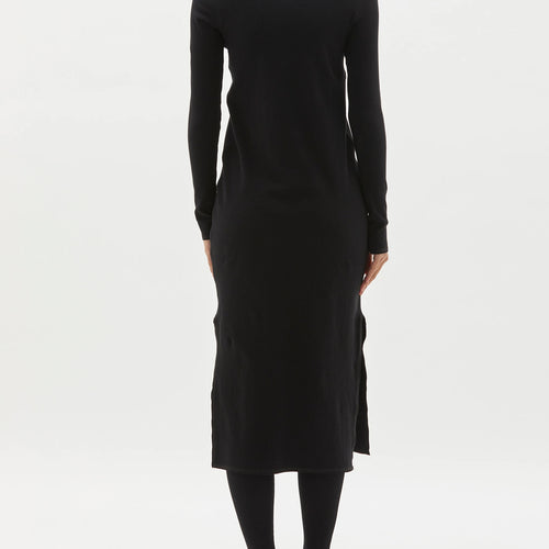 Fitted Rib Long Sleeve Dress
