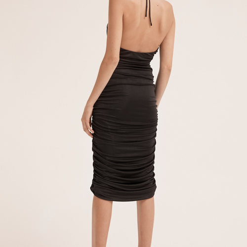 Lead On Halter Midi Dress