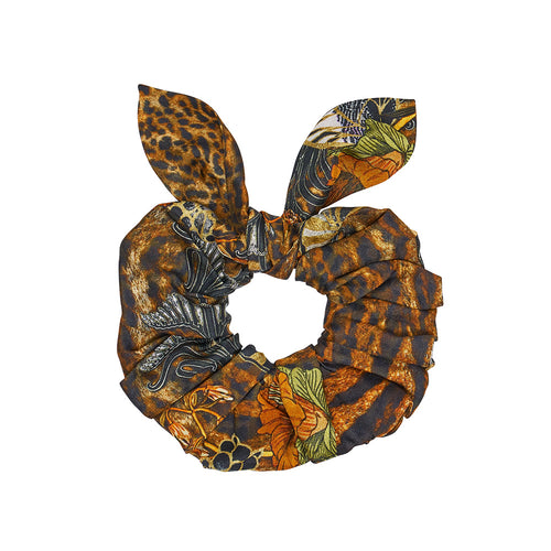 Wild Azal Scrunchie with Tie