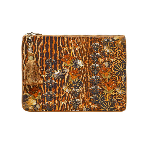 Wild Azal Small Canvas Clutch