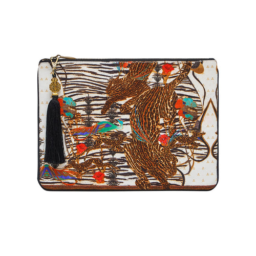 Cosmic Conflict Small Canvas Clutch
