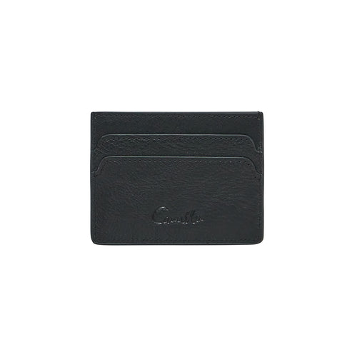 Solid Black Card Holder