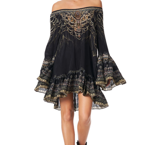 Under A Full Moon A Line Frill Dress