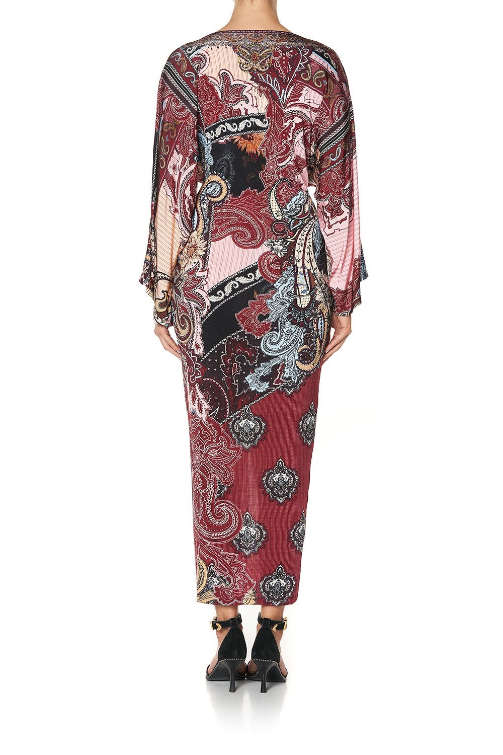 Tale of the Fire Bird Long Split Front Twist Dress