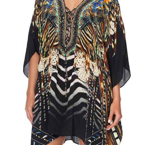 Lost Paradise Short Lace up Kaftan