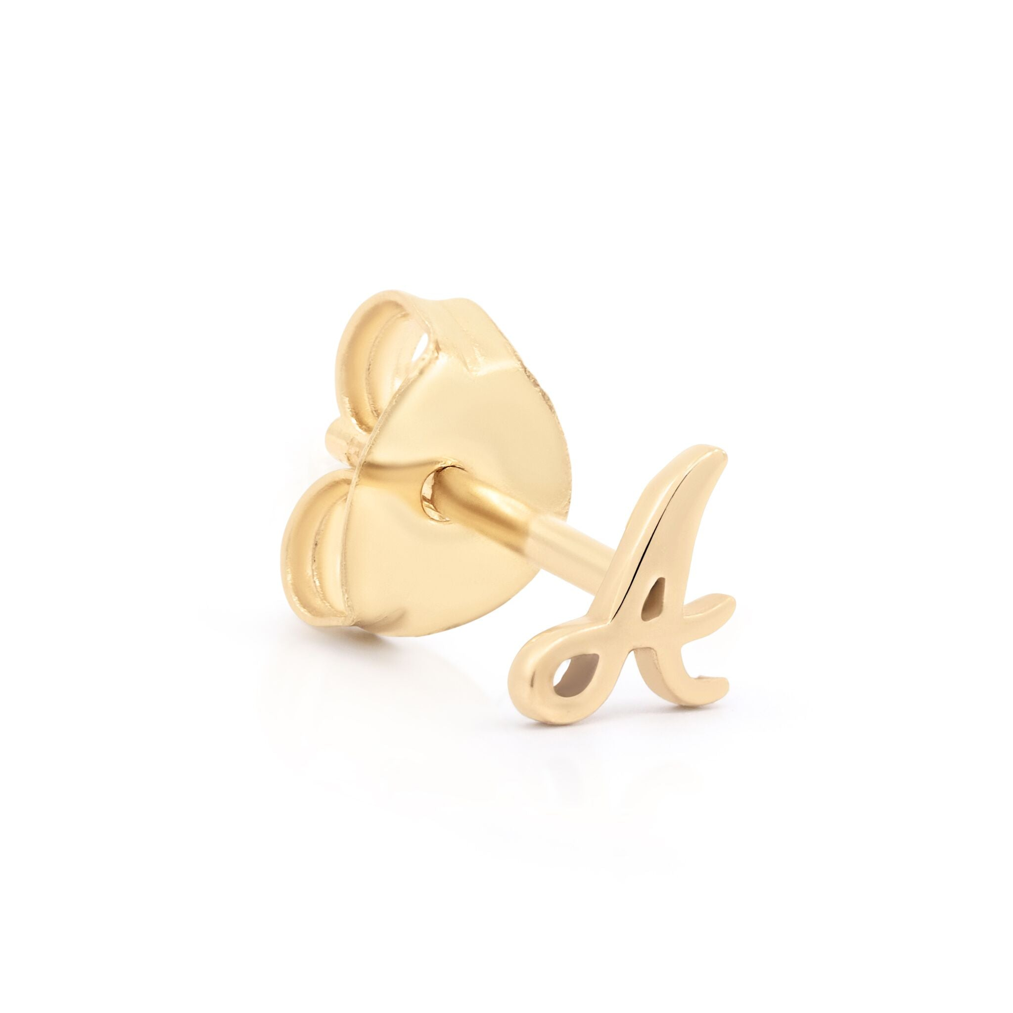 14K Gold Love Letter Earring