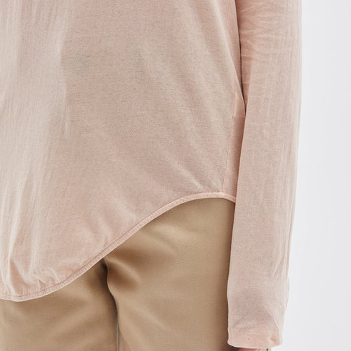 Heritage Scoop Hem Long Sleeve T-Shirt