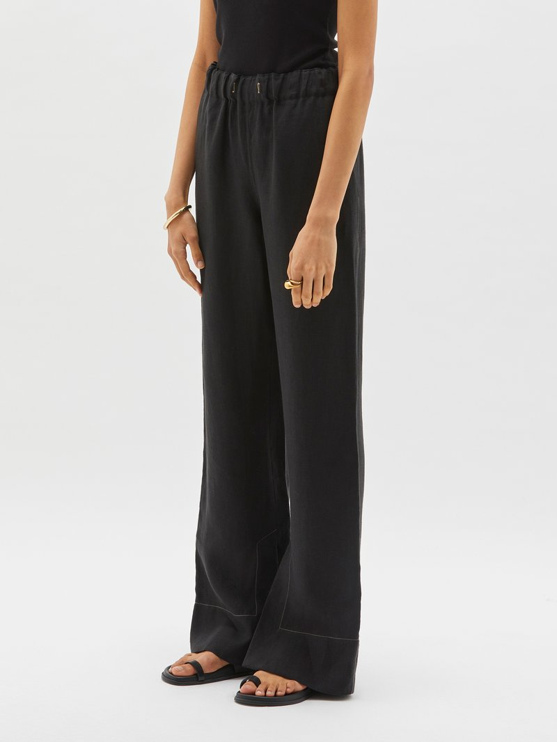 Linen Slouch Pull On Pants