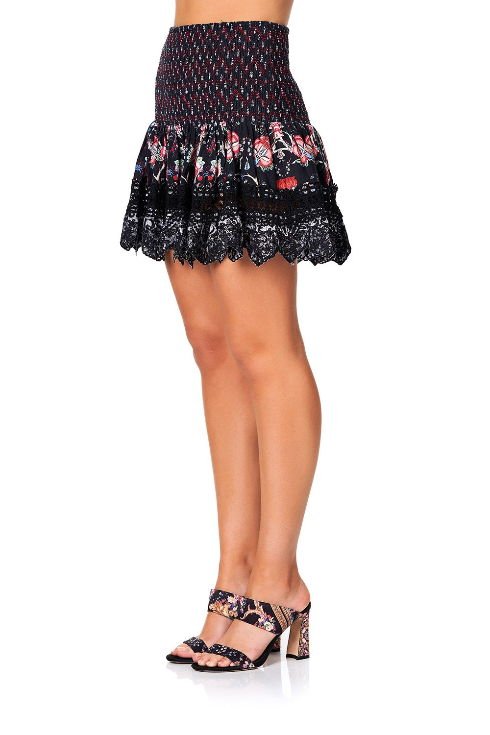 Haute Provincial Short Shirred Skirt