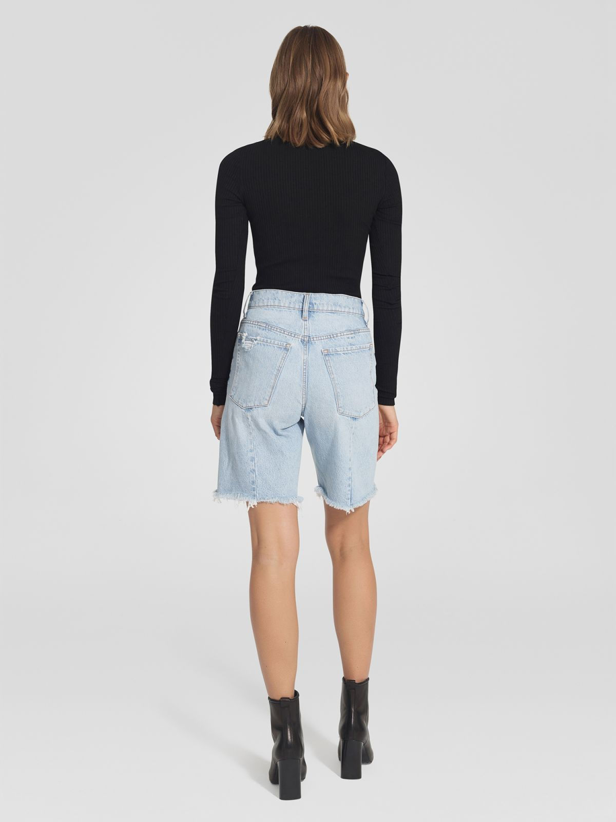 Raw Seam Longline Short