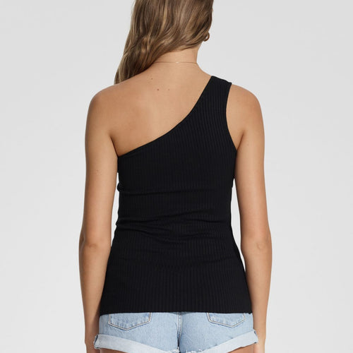 Luxe Rib Tank One Shoulder