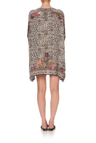 Wild Child Short Lace Up Kaftan