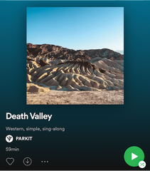 PARKIT Spotify Travel Tunes Death Valley