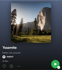PARKIT Spotify Travel Tunes Yosemite