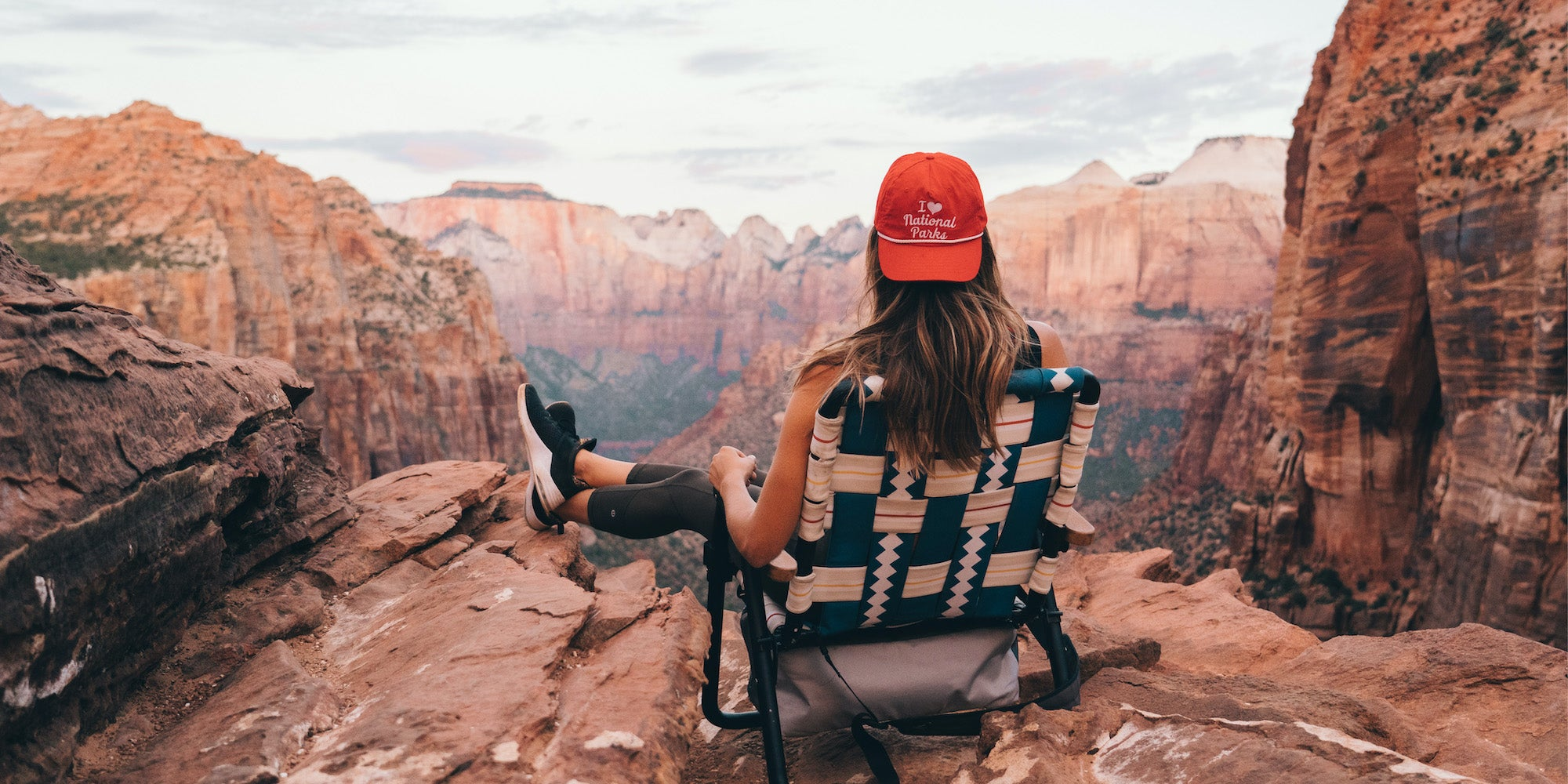 Parkit Voyager outdoor chair being used at Zion National Park