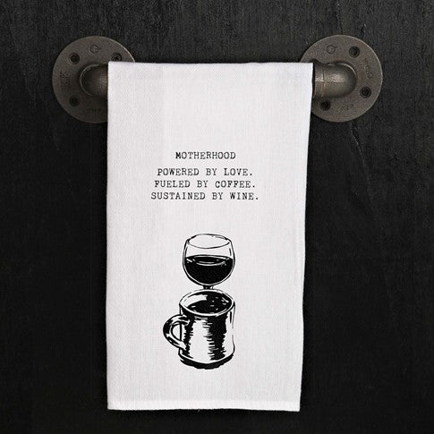 Motherhood Powered by love - Kitchen Towel