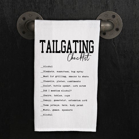 Tailgating checklist  - Kitchen Towel